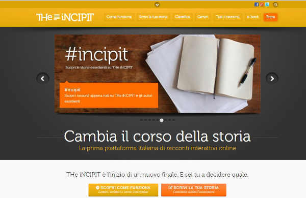 Come creare storie a bivi con The Incipit