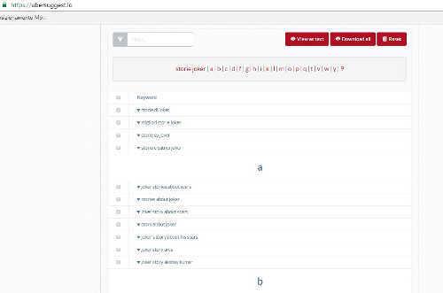Ubersuggest - Come scegliere keyword