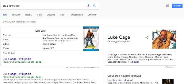 Come finire nei featured snippet - Luke Cage