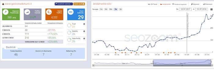 Posizionamento SEO www.gestionedeiturni.it