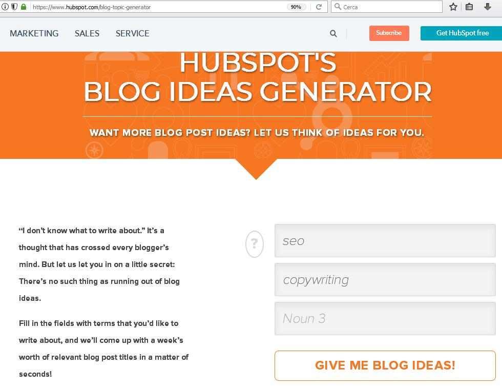 generatore di idee per articoli per copywriter SEO