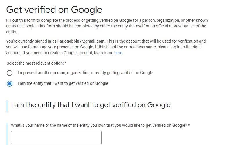 Verifica informazioni Posts On Google