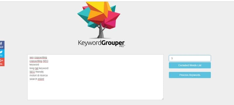 Keyword Grouper Pro raggruppare keyword