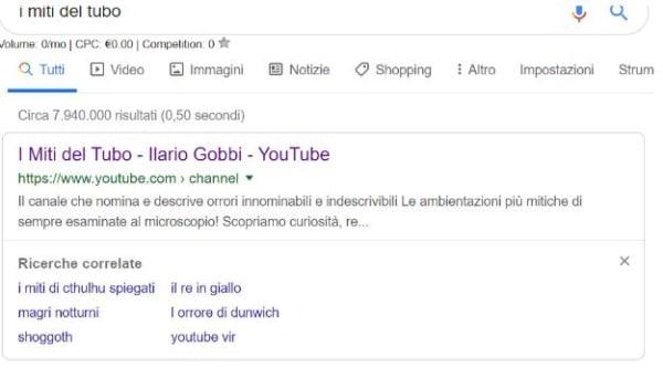 Ricerche correlate per Youtube