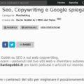 Podcast SEO copywriting Ilario Gobbi