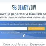 Come creare file disavow con Deasyvow
