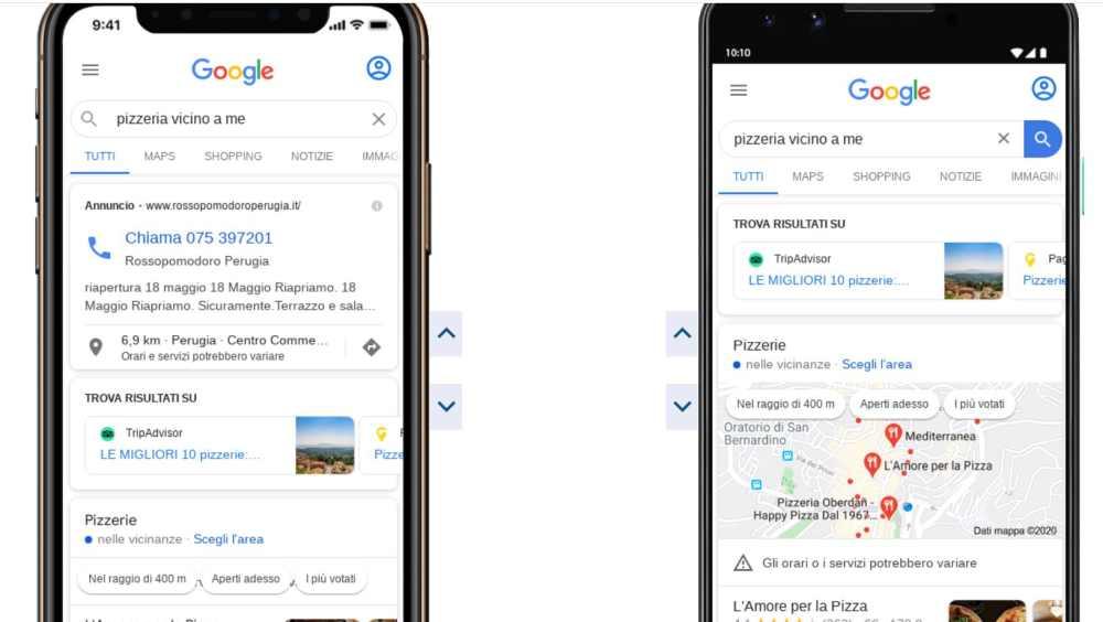 Verificare serp da mobile