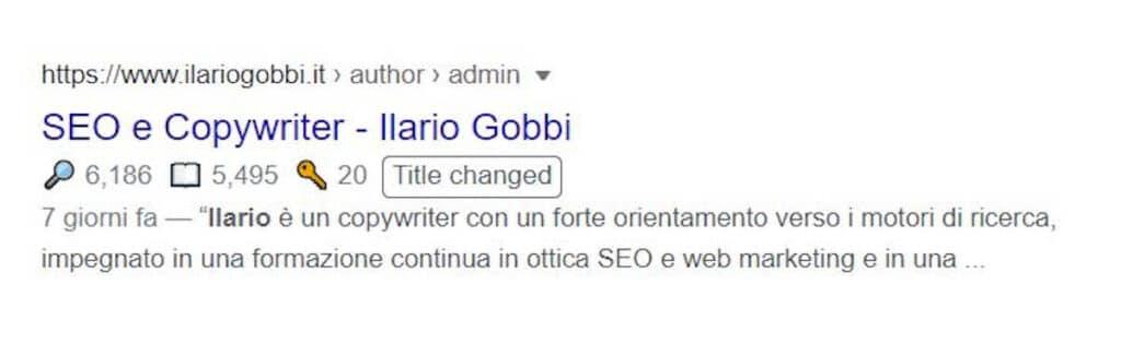 Title riscritti da Google